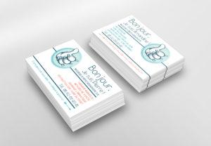 Mockup business card pour le cabinet de massage et kinésithérapie ESPERON - BRIERE