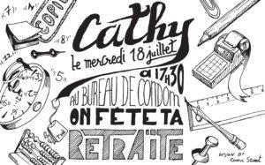 Carton d'invitation pour un départ à la retraite du CABINET DRAPIER & ASSOCIES