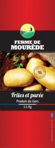Packaging pour filet de patates de LA FERME DE MOUREDE