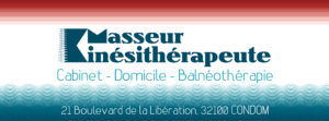 Bannière FACEBOOK pour le cabinet de massage et kinésithérapie ESPERON - BRIERE