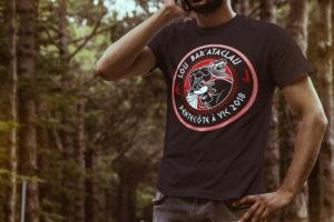Mockup tee shirt LOU BAR ATACLAU